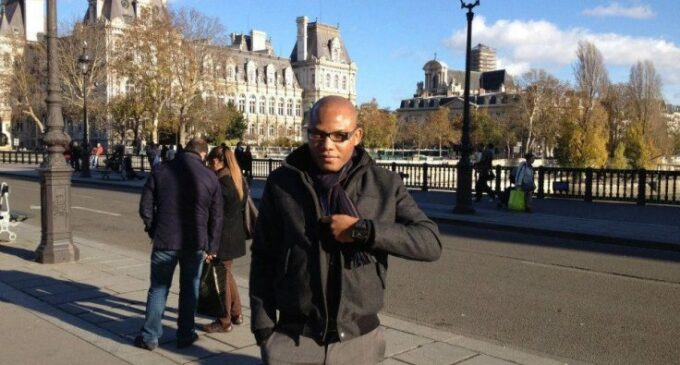 Nnamdi Kanu hints at not returning to Nigeria for parents' funeral