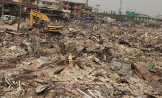 Like Fashola, Ambode demolishes market in Oshodi