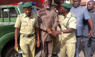 Olisah Metuh handcuffed to court again