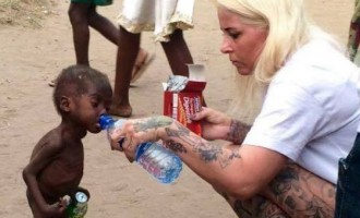 Saved by charity… Hope, Nigerian 'witch-child' left for dead, is on the road to recovery