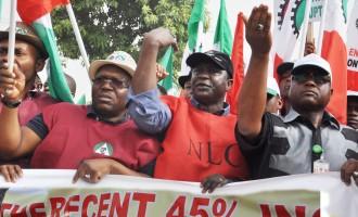 NLC, TUC ask Buhari to triple minimum wage