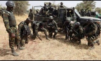Soldiers shoot sporadically in Delta community