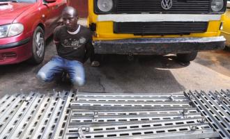 RRS arrests bus driver for 'stealing' Eko bridge rails