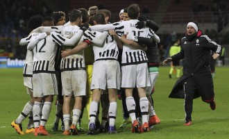 Juventus win fifth scudetto without kicking a ball