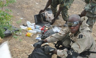 Troops destroy 'ready-to-explode' bomb factory