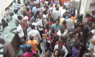 Commotion as soldiers, policemen clash in banking hall