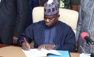 Kogi gov shuns reps, signs N99.9bn budget