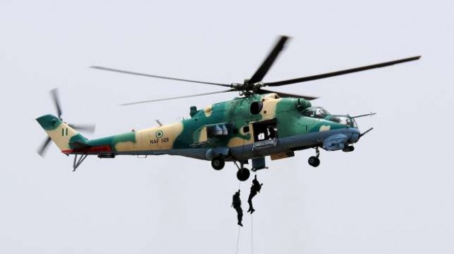Air force helicopter crashes in Enugu