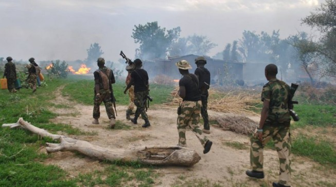 Soldiers 'chase' insurgents out of Adamawa communities, lower Boko Haram flag