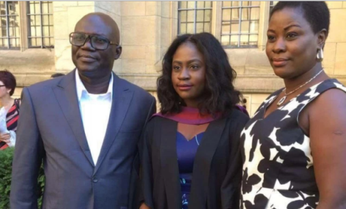 Like father, like daughter… Abati's daughter graduates with First Class