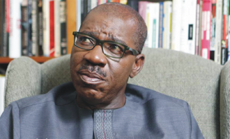 Obaseki in the mouth of the boa constrictor