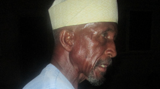 TRIBUTE: Kyari, the old-age pensioner housing 49 IDPs in his small compound in Maiduguri