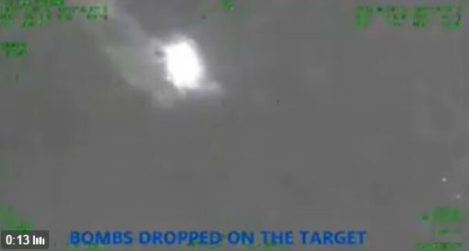 VIDEO: The air strike that 'destroyed' Boko Haram at night