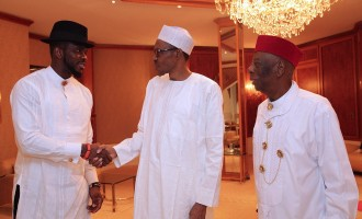 PHOTOS: Election over… Jonathan supporter Yobo visits Buhari in Aso Rock