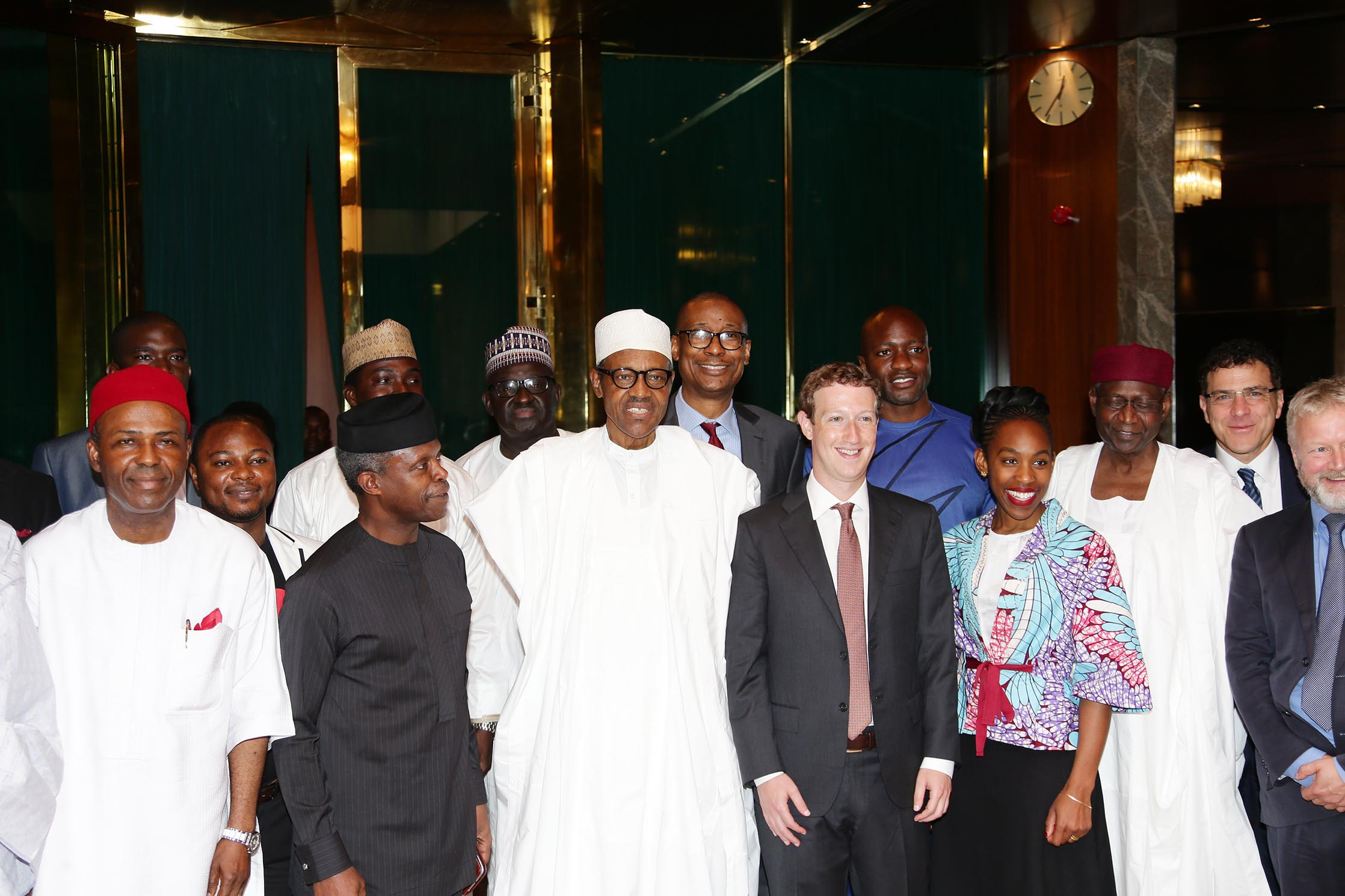 PRESIDENT BUHARI RECEIVES FACEBOOK CEO