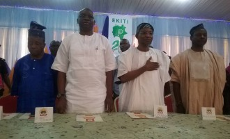 Aregbesola celebrates with Fayose in Ekiti