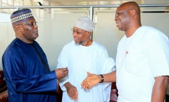 Alliance? Atiku, Fayose, Aregbesola seen together at Abuja airport