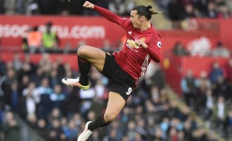 Ibrahimovic scores EPL's 25,000th goal as Man Utd defeat Swansea