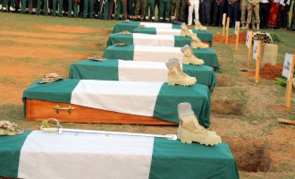 Buratai weeps as Ali, 6 fallen heroes are laid to rest