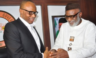 Mimiko hands over power to Akeredolu