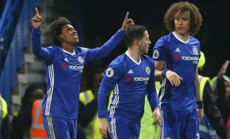 Chelsea thrash Stoke for 13th straight EPL win