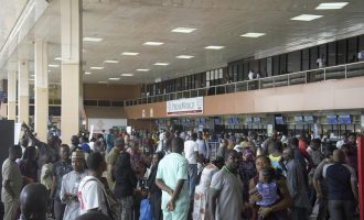Many passengers stranded at Lagos airport