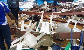 UPDATED: '18 killed', governor escapes as church building collapses in Uyo