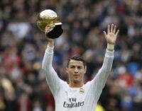 Ronaldo: I deserve to win more Ballon d'Or awards than Messi