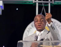 'You're not above the law!' — outrage as Oyedepo holds service despite ban on large gatherings