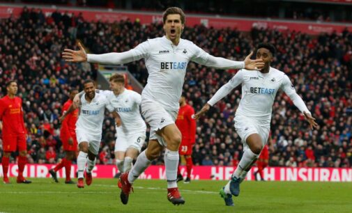 Swansea beat Liverpool for first ever league game win at Anfield