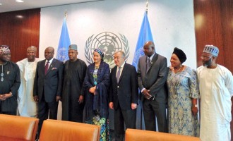 Shettima, Amosun at UN headquarters as Amina Mohammed takes oath of office