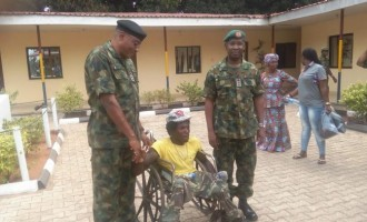 Man brutalised by 2 soldiers gets cash gift from army