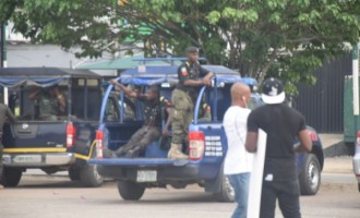 Police outnumber protesters as Lagos march begins
