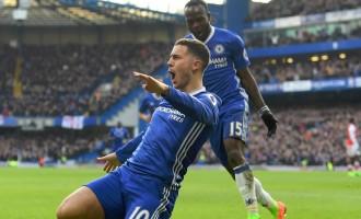 Moses shines, Iwobi quiet as Chelsea thrash Arsenal