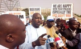 Pro-Buhari, anti-govt groups protest in Abuja