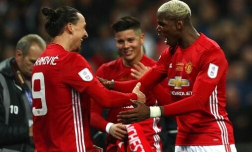 Ibrahimovic scores twice to win EFL Cup for Man United