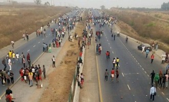 UniAbuja students protest colleague's death, block major highway