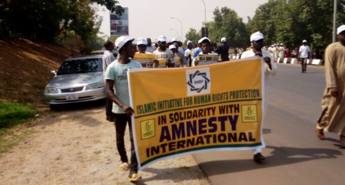 CSOs stage solidarity rally, say Amnesty can't be forced out of Nigeria