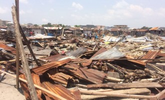 Many houses demolished in Lagos riverine community