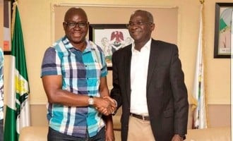 Fayose to Fashola: Because of you, I'll tone down my criticism of Buhari