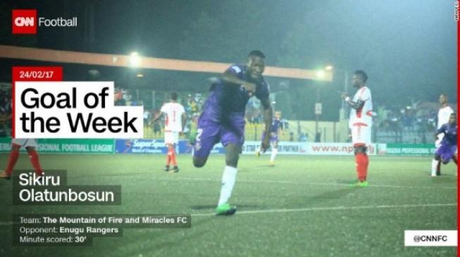 MFM striker, Olatunbosun, wins CNN goal of the week award