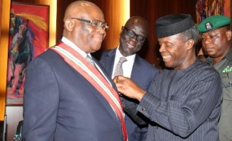 Osinbajo swears in Onnoghen as chief justice of Nigeria