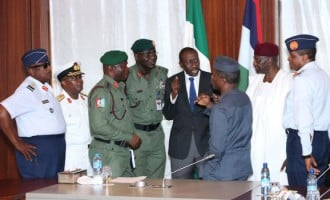 Service chiefs brief Osinbajo, pledge total loyalty to Buhari