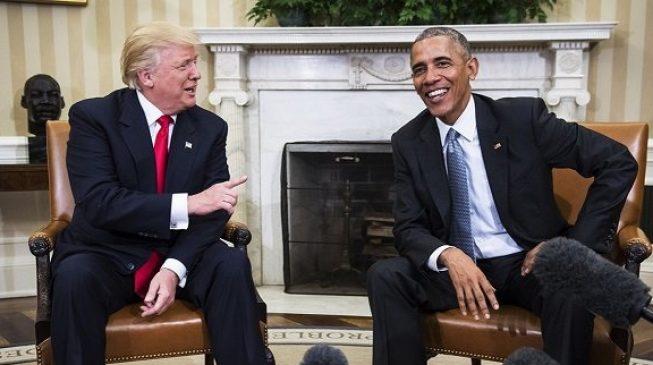 Trump cancels UK visit, blames Obama