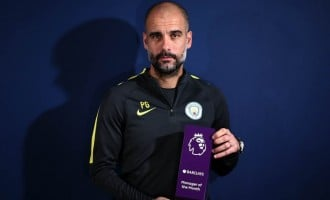 Guardiola wins first EPL manager of the month award