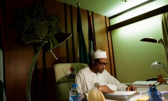 Buhari working from home