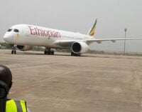Ethiopian Airlines lands in Abuja as airport reopens after six weeks