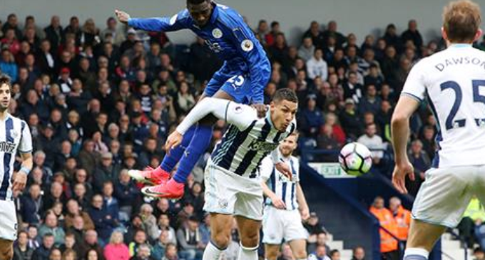 Ndidi helps Leicester defeat West Brom