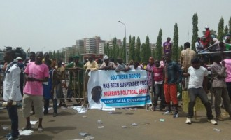 Protesters storm n'assembly over Ndume's suspension