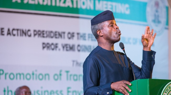 Osinbajo: Fasting and prayer won't grow our economy